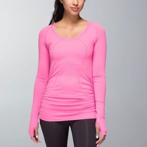 Lululemon Swiftly Tech Long Sleeve Scoop *Ruched